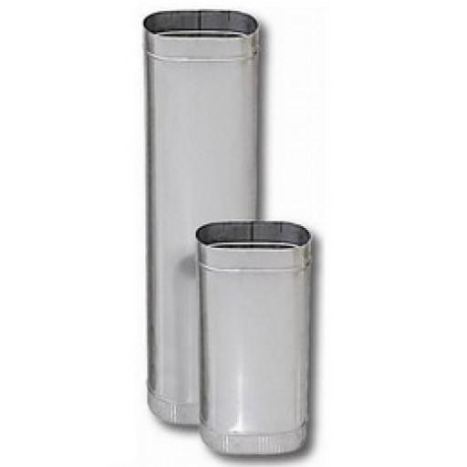 Дымоход овальный (труба) 1000 мм