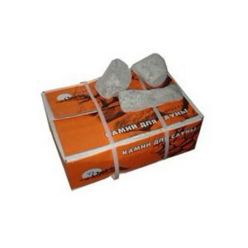 Камень для бани габбро-диабаз колотый, коробка 20 кг