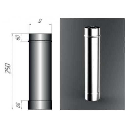 Дымоход (труба) 250 мм 304/1,0 мм