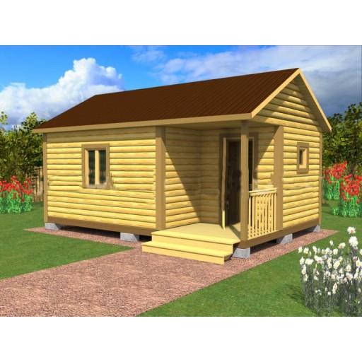 Садовый домик №7 (6х4 метра) с террасой