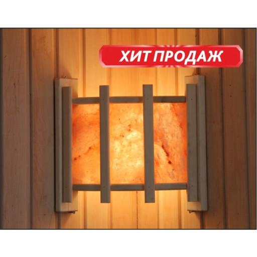 Абажур Doorwood угловой с гималайской солью 3 плитки