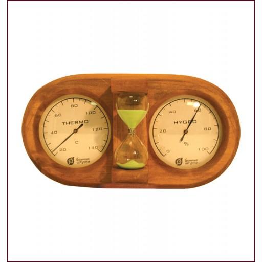 Банная станция Термометр с гигрометром с песочными часами