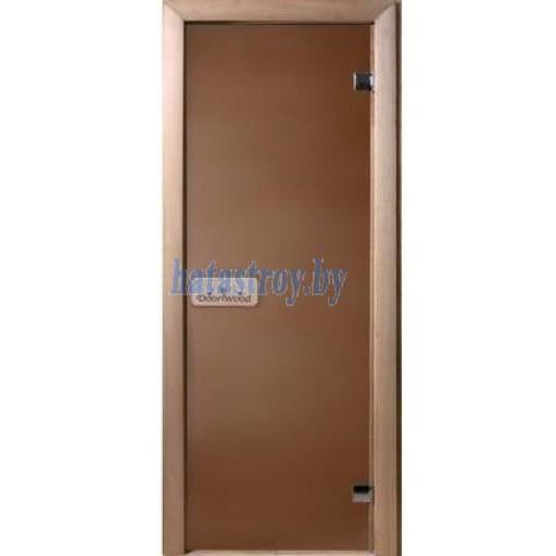 Стеклянная дверь для бани Doorwood, стекло 6 мм