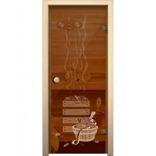 Стеклянная дверь для бани Akma Банька