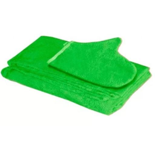Комплект для бани мужской махровый (килт, рукавица)