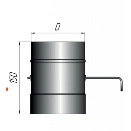 Шибер поворотный 430/1,0 мм