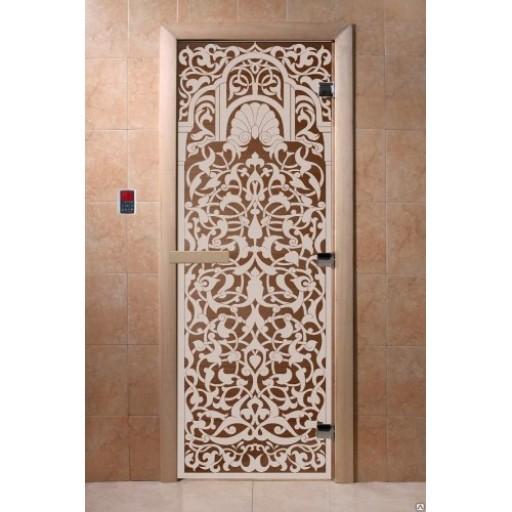 """Стеклянная дверь для бани Doorwood 700х1900 мм """"Флоренция"""", бронза"""