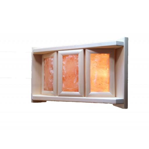 Абажур с гималайской солью на три плитки (угловой)