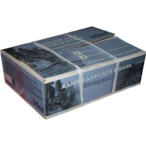 Камень для бани талькохлорит колотый, коробка 20 кг