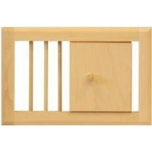 вентиляционная решетка для бани и сауны (классика)