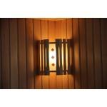 Абажур Doorwood угловой с одним стеклом с вставками