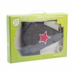 Набор для бани и сауны три предмета (шапка Буденовка, рукавица, коврик)
