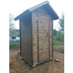"Туалет для дачи ""Классический"" большой из блок-хауса 2000х1300х1300 см"