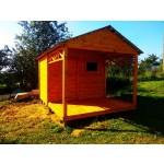 Бытовка (хозблок) садовая №7 3х4 метра с террасой