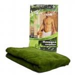 Накидка махровая для мужчин, для бани и сауны 140х60см