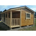 Садовый домик 6х4 м с террасой