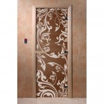 """Стеклянная дверь для бани """"Doorwood"""" 700х1900 мм бронза """"Венеция"""""""