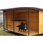 Вольер для собаки из металла 04 (блок-хаус)