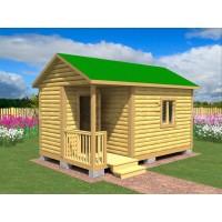 Садовый домик №5 с террасой (5х3 метра)