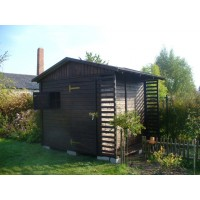 Бытовка садовая №5 3х3.5 метра с дровницей