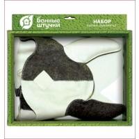 Набор для бани и сауны два предмета (шапка Викинг, рукавица)