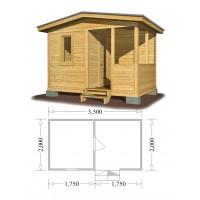 Хозблок 2х3,5 метра с окном и террасой