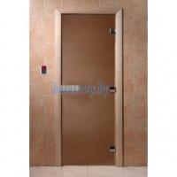 Стеклянная дверь для бани Doorwood, стекло бронза, матовое, 8 мм