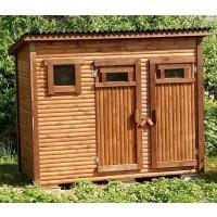 Туалет-душ два в одном для дачи 3х1,5 метра