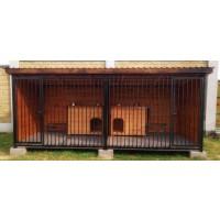 Вольер для собаки 6х2 метра из металла (двойной)