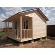 Садовый домик №6 с террасой (5х4,5 метра)